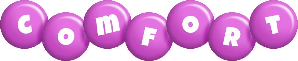 Comfort candy-purple logo