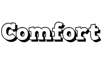 Comfort snowing logo