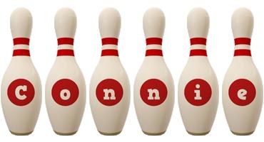 Connie bowling-pin logo