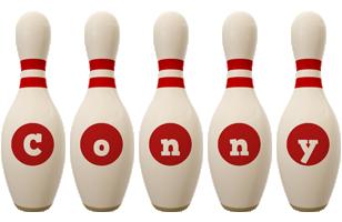 Conny bowling-pin logo