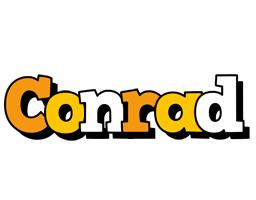 Conrad cartoon logo