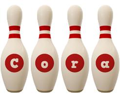 Cora bowling-pin logo