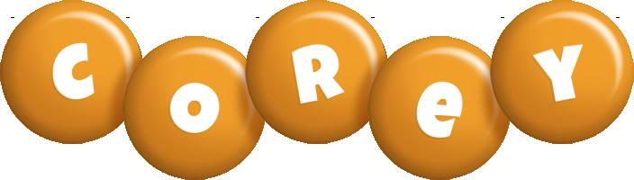 Corey candy-orange logo