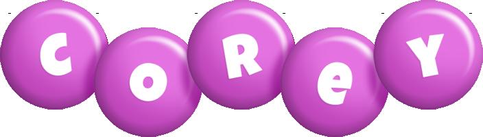 Corey candy-purple logo