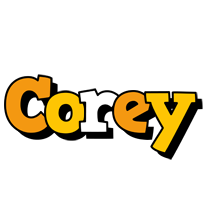 Corey cartoon logo