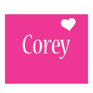 Corey love-heart logo