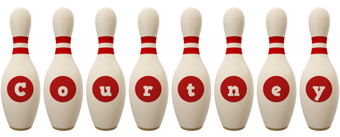 Courtney bowling-pin logo