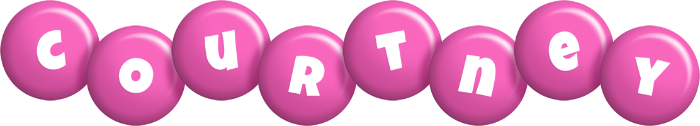 Courtney candy-pink logo