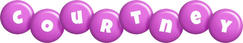 Courtney candy-purple logo