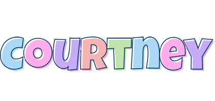 Courtney pastel logo