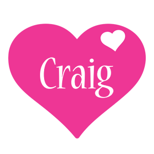 Craig love-heart logo