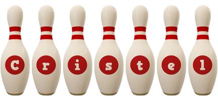 Cristel bowling-pin logo
