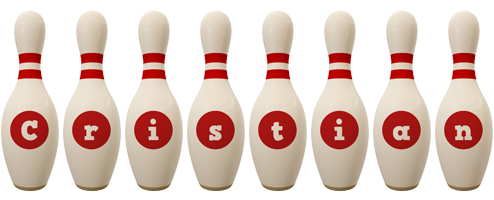 Cristian bowling-pin logo