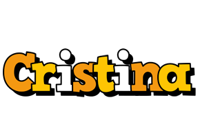 Cristina cartoon logo