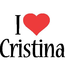 Cristina i-love logo