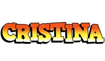 Cristina sunset logo