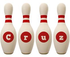 Cruz bowling-pin logo