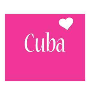 Cuba love-heart logo