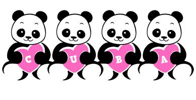 Cuba love-panda logo