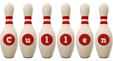 Cullen bowling-pin logo