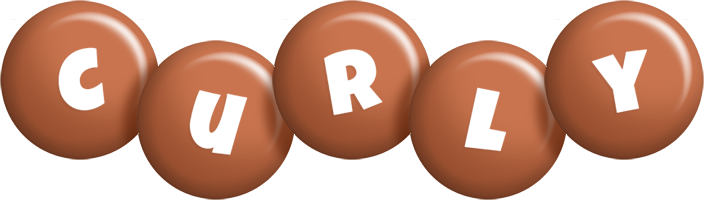Curly candy-brown logo