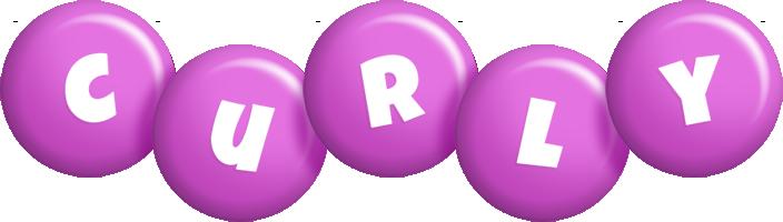 Curly candy-purple logo