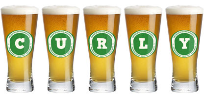 Curly lager logo