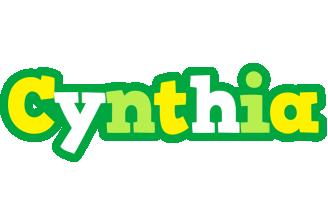 Cynthia soccer logo
