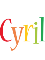 Cyril birthday logo