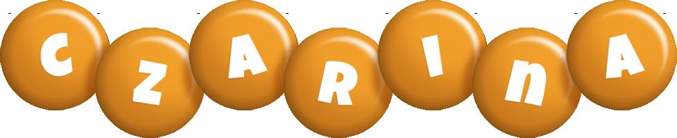 Czarina candy-orange logo