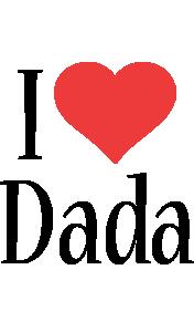 Dada i-love logo