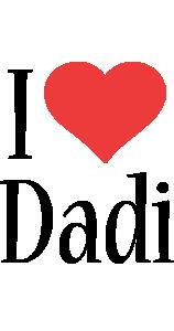 Dadi i-love logo