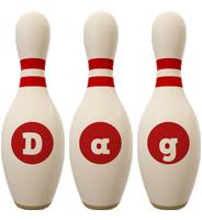 Dag bowling-pin logo