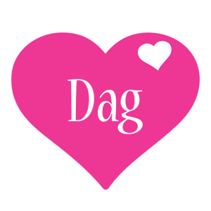 Dag love-heart logo