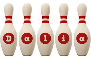 Dalia bowling-pin logo