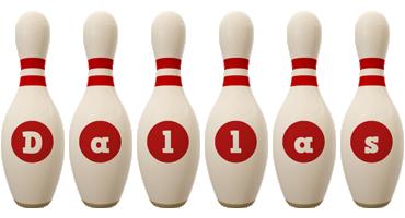 Dallas bowling-pin logo