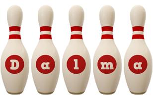 Dalma bowling-pin logo
