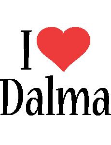 Dalma i-love logo