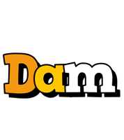 Dam cartoon logo