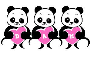 Dam love-panda logo