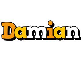Damian cartoon logo