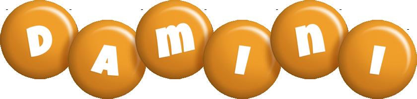 Damini candy-orange logo