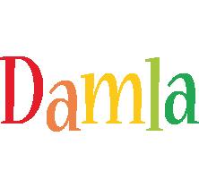 Damla birthday logo