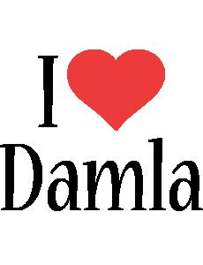 Damla i-love logo