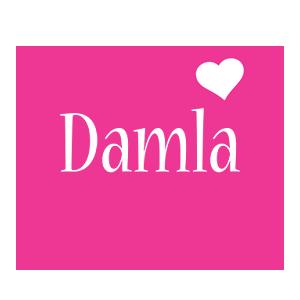 Damla love-heart logo