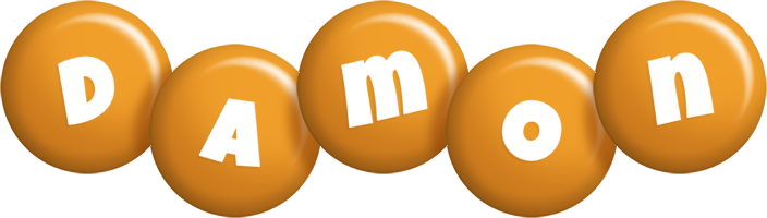 Damon candy-orange logo