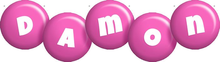 Damon candy-pink logo