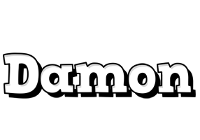 Damon snowing logo