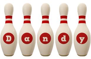 Dandy bowling-pin logo