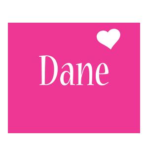 Dane love-heart logo